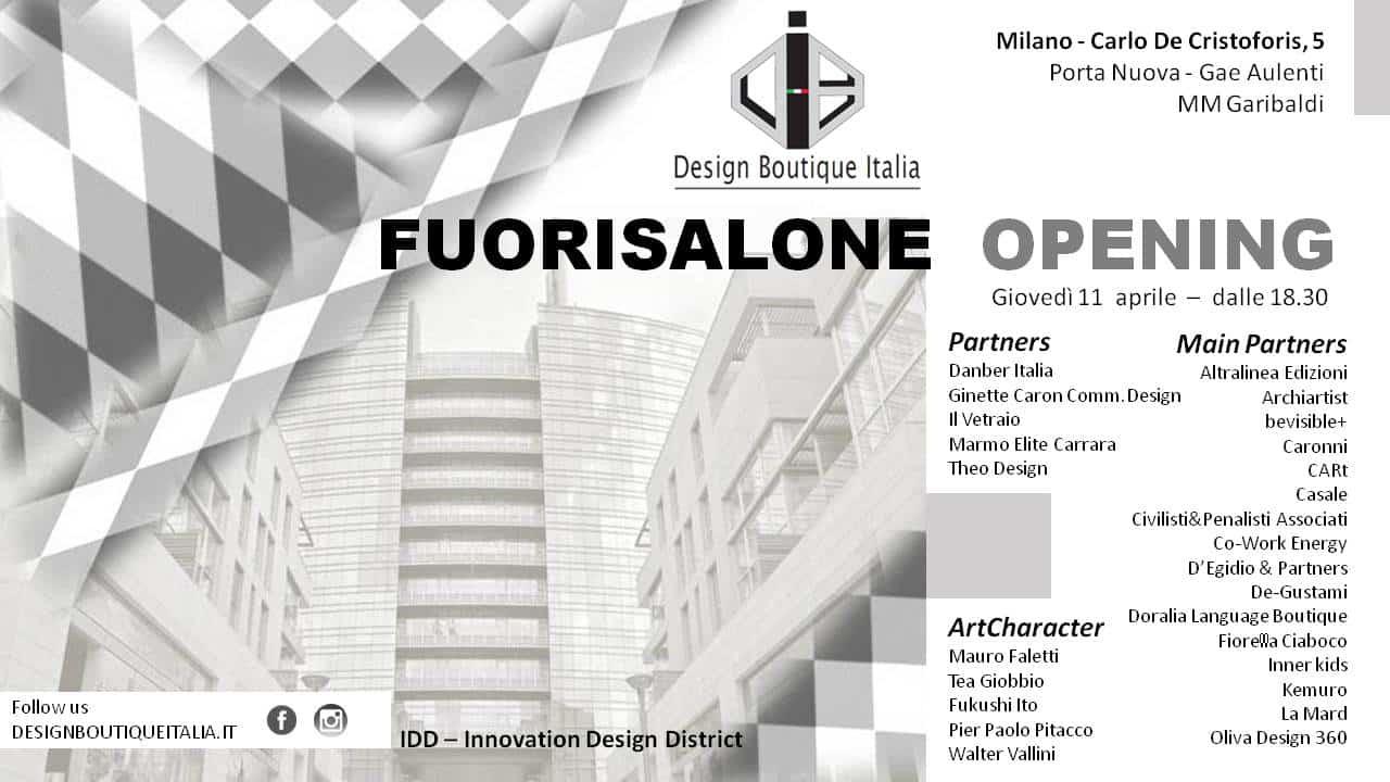 Design Boutique: inaugurazione al Fuori Salone